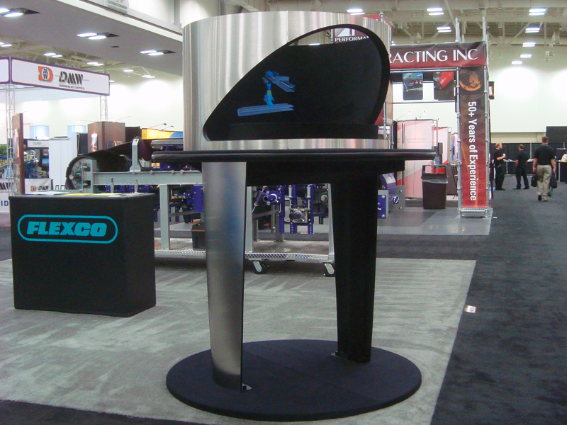 Holographic Exhibit at Trade Show