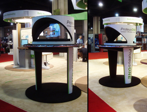 Holographic Projector at Trade Show Booth Display
