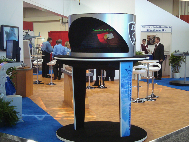 Hologram Projector at Trade Show