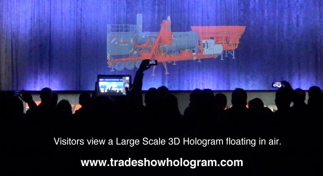Large Size Hologram Projector