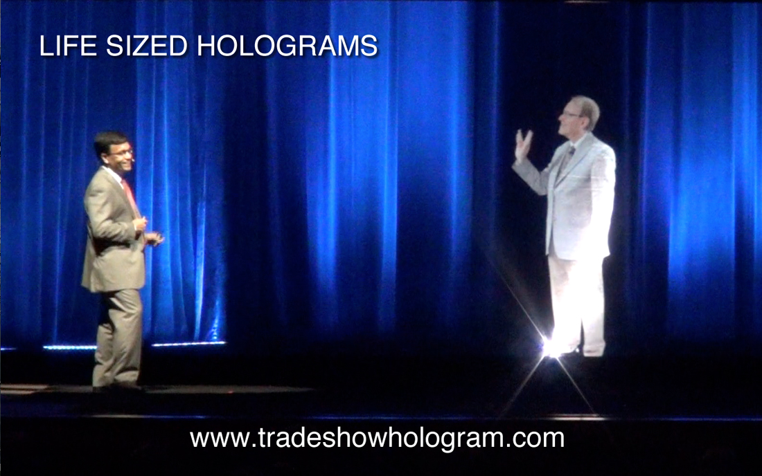 life size hologram projection