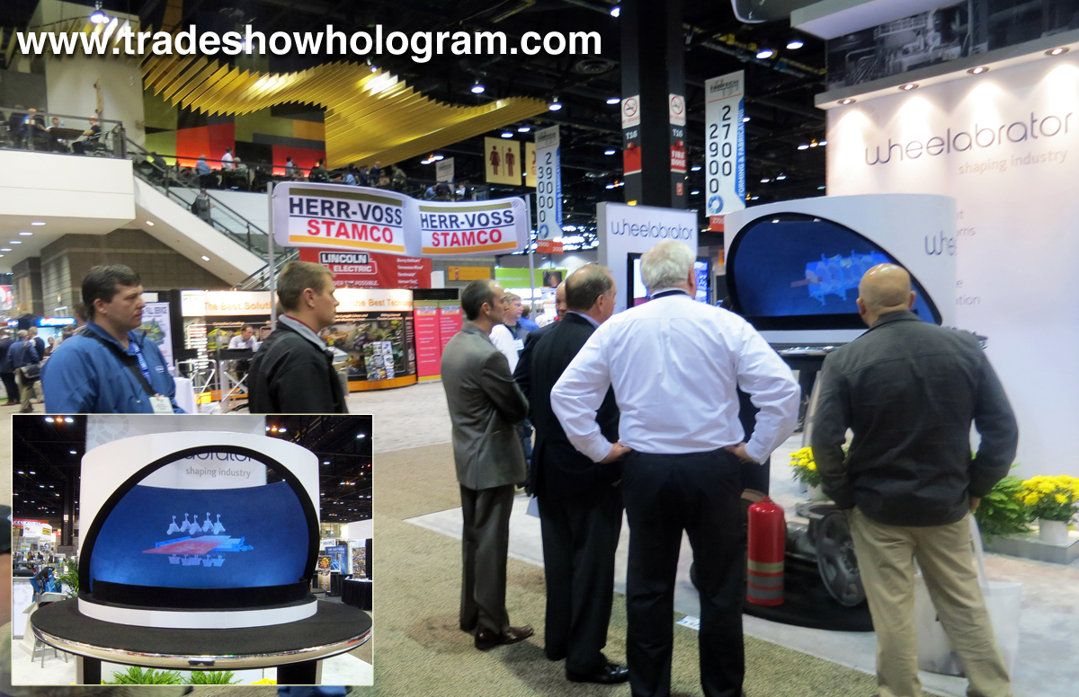 Fabtech 2013 hologram display.