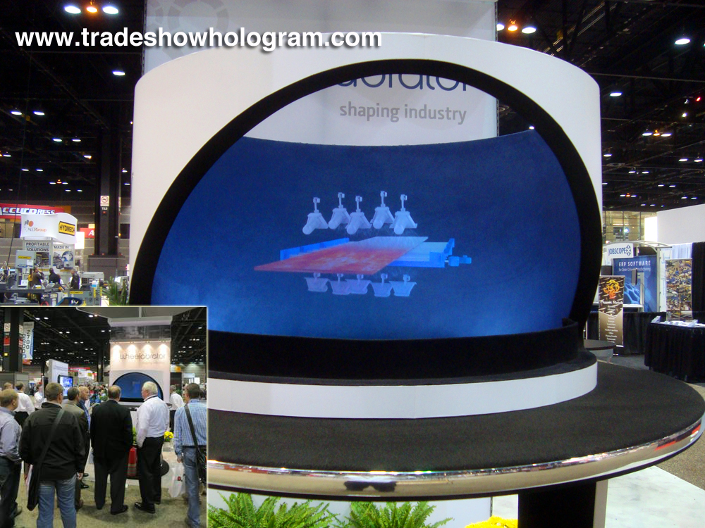 Holographic Projection at Trade Show