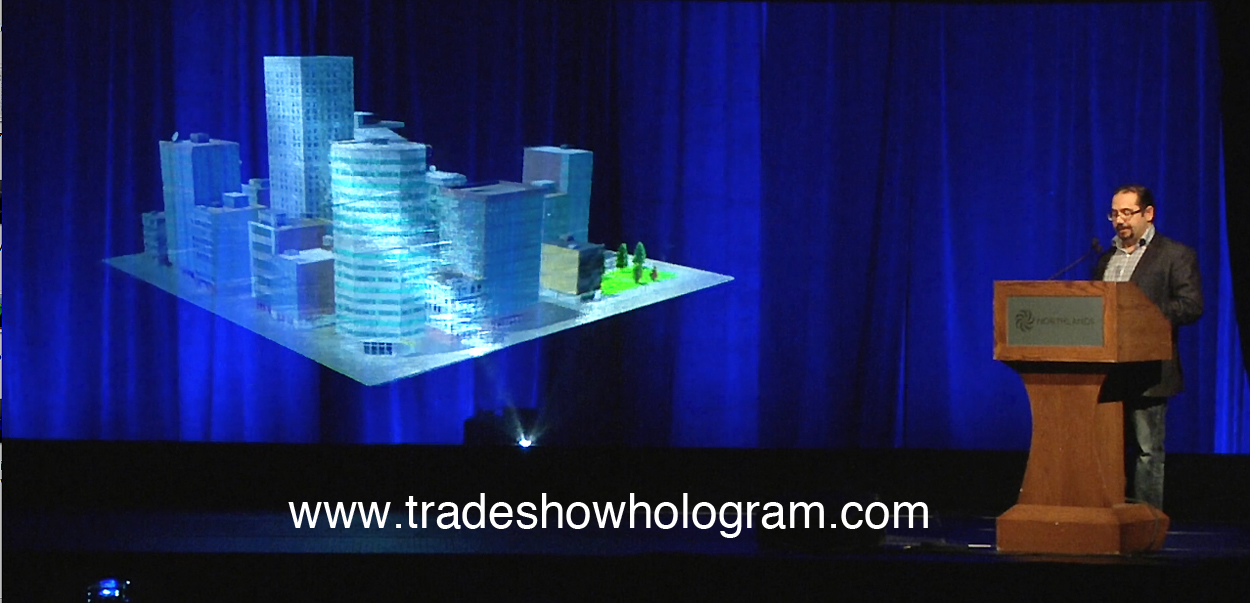 hologram, projector, 3d, large, giant, keynote, powerpoint