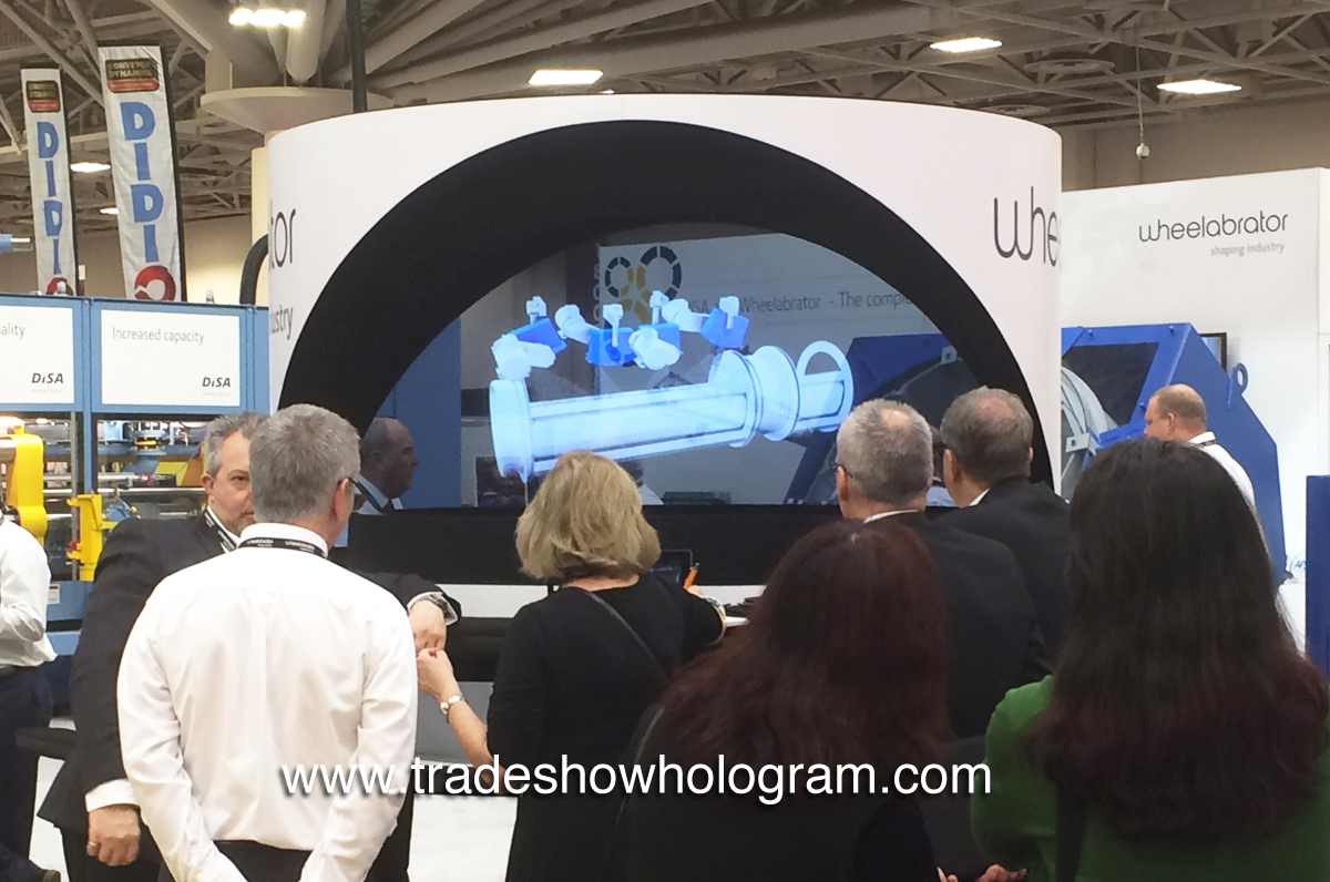 3d hologram projector for trade show