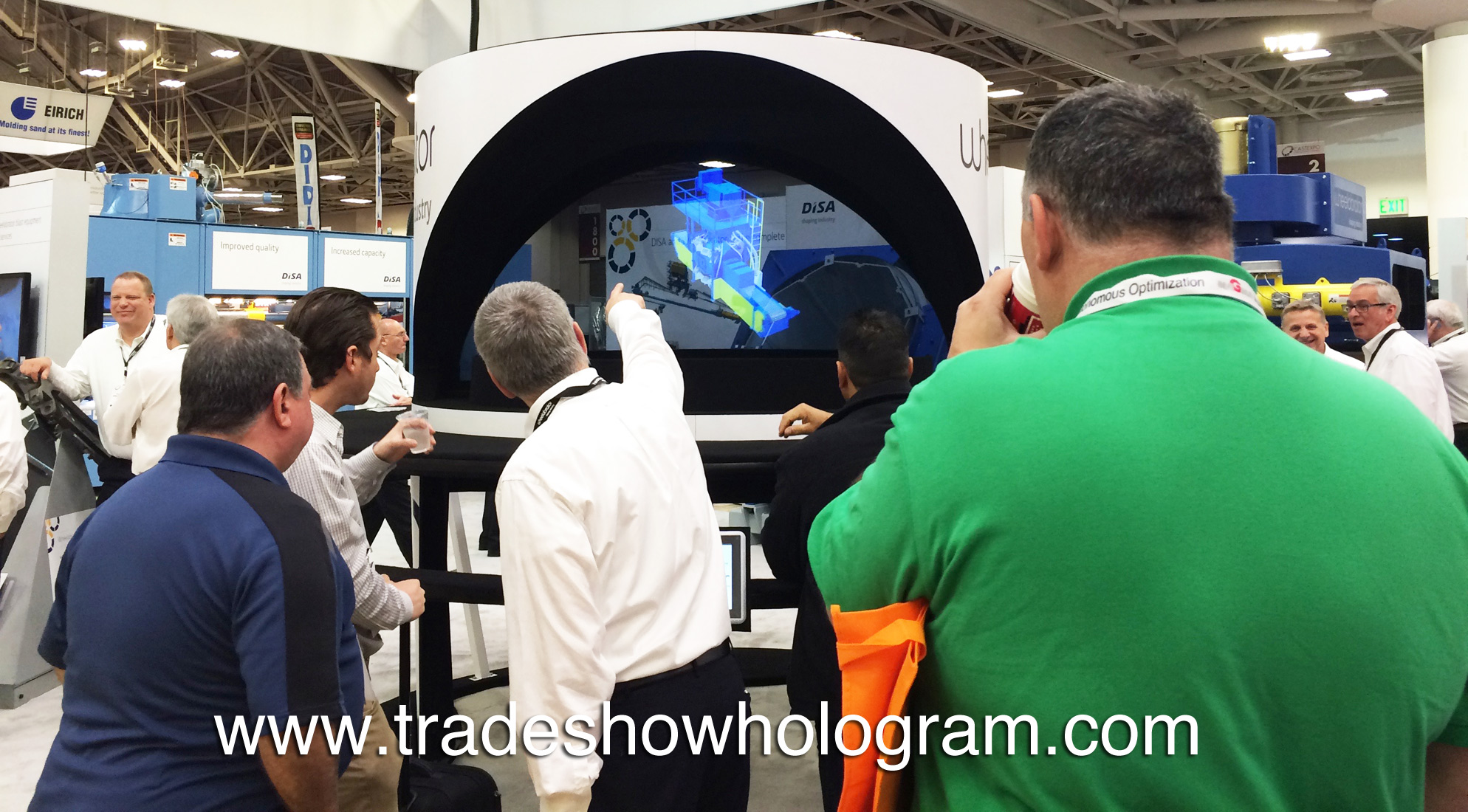 large hologram for trade show