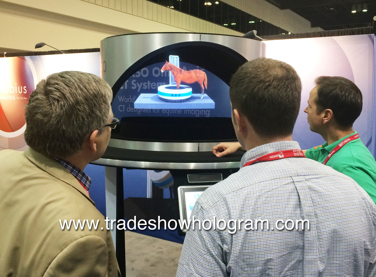 3D Hologram Projector at Trade Show in Orlando