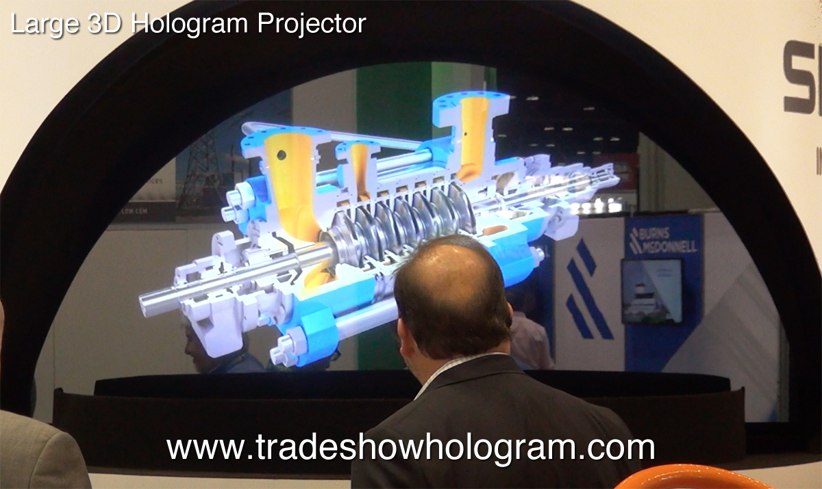 Holographic Trade Show Exhibits Custom Next Generation 3d Displays Occc Hologram Large Scale Pgi Power Gen
