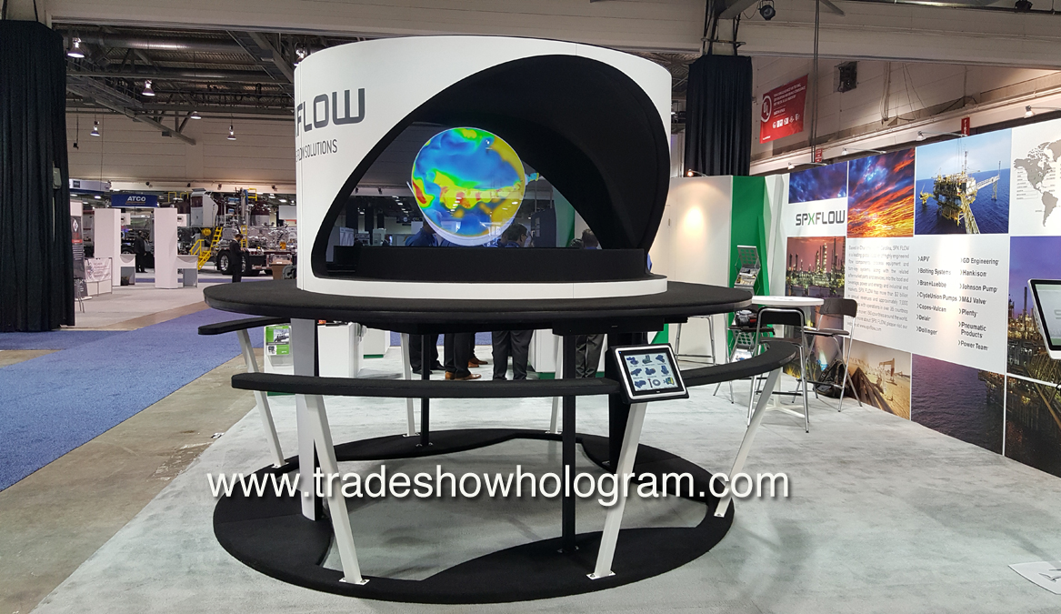 Large Scale Holographic Projector for trade show