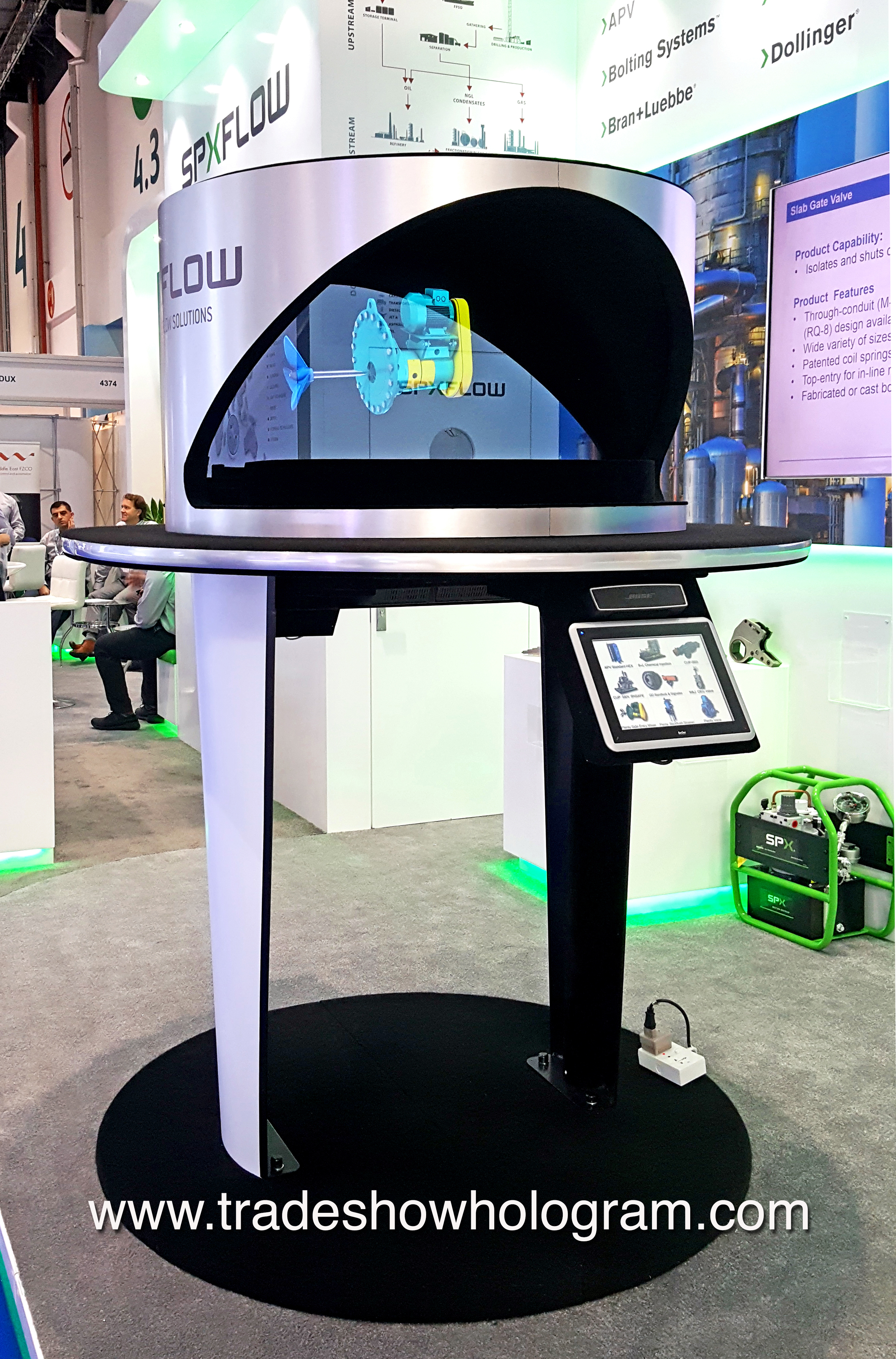 hologram projection for trade show