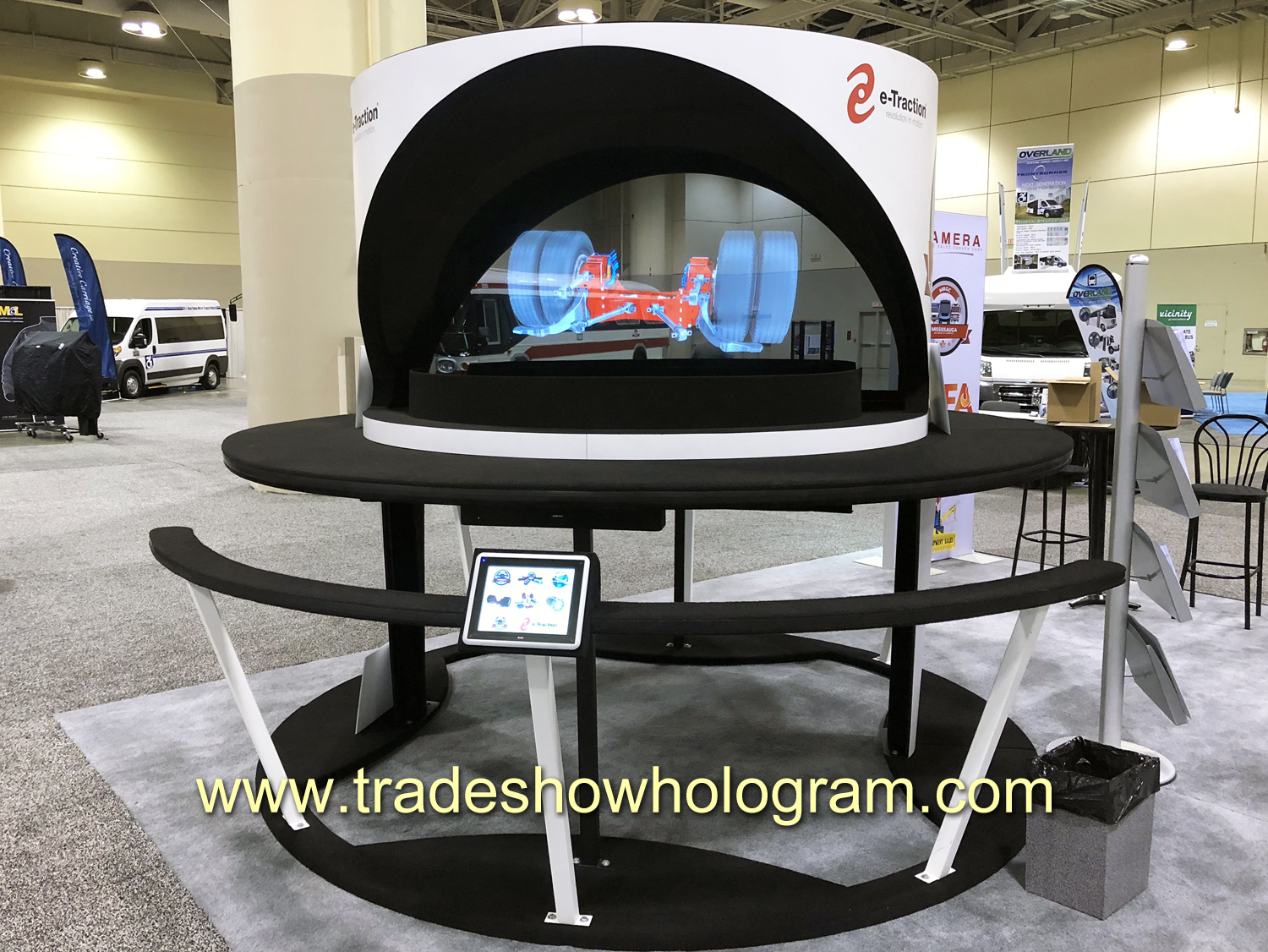 hologram, projector, trade show, toronto