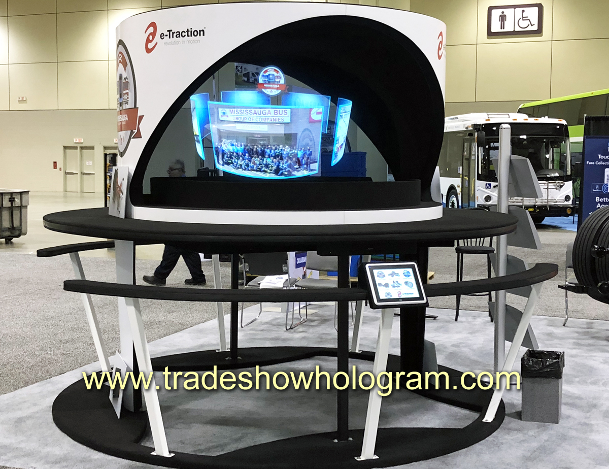 3d, hologram, trade show, large., exhibit, toronto