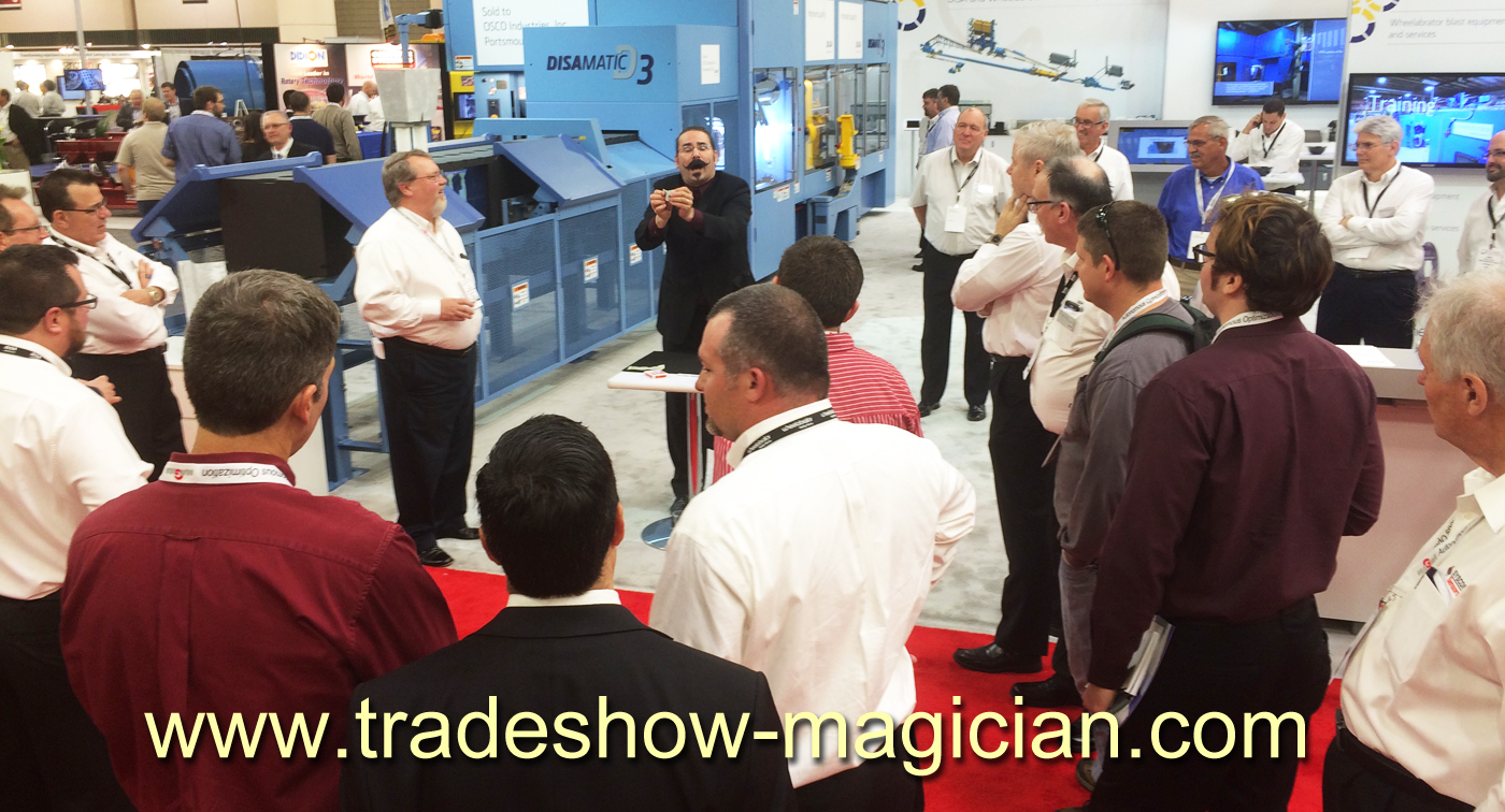 fabtech, magician, trade show, attraction