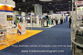 High Visibility Hologram Display at Trade Show