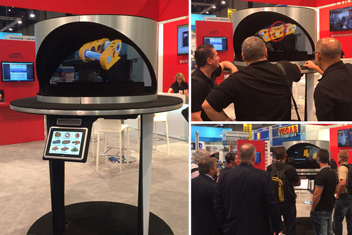 3D Hologram Exhibit at Trade Show Booth