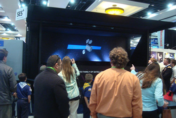 Large Hologram Projection at Trade Show